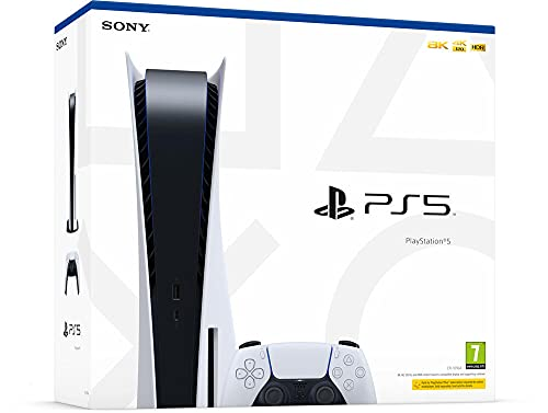 Sony PlayStation 5 Standard Edition, PS5 with 1 DualSense Wireless Controller, Color: White
