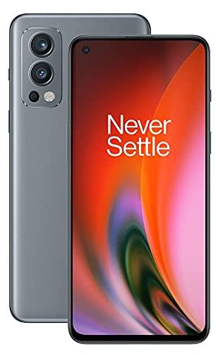 OnePlus Nord 2 5G - 8 Go de RAM + 128 Go de stockage, smartphone sans carte SIM avec triple caméra et Warp Charge 65W - Garanti 2 ans - Grey Sierra