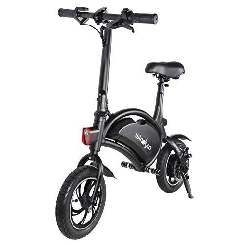 """Vélo Électrique Pliable, Jusqu'à 25km/h, Vitesse Réglable 12"""" E-Bike, 350W/36V Rechargeable Batterie Li-ION, Adultes et Enfants Cadeaux (Noir)"""