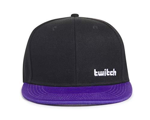 Twitch Casquette snapback, noir/violet,